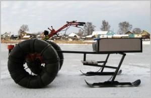 Как сделать снегоход своими руками из мотоцикла и мотоблока с видео и фото-3