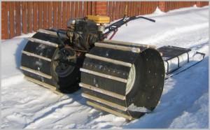 Как сделать снегоход своими руками из мотоцикла и мотоблока с видео и фото-5