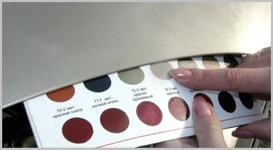 Подбор краски для авто по коду краски