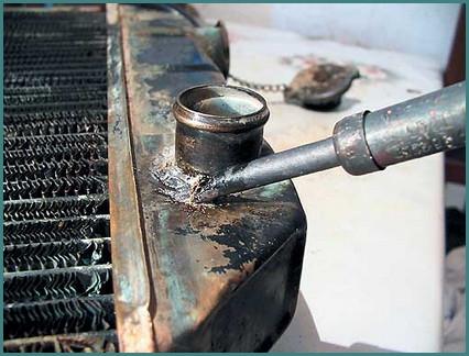 Пайка радиатора охлаждения двигателя, советы-2