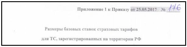 Базовый тариф ОСАГО 2017, обзор-1