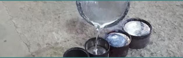 Температура плавления чистого и с примесями алюминия в градусах